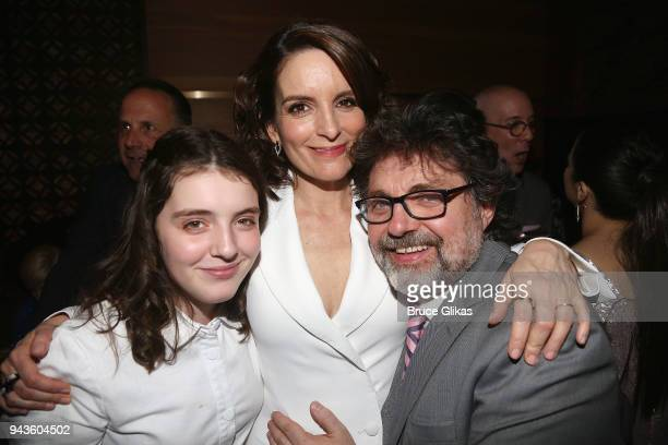 Alice Zenobia Richmond mother Tina Fey and husband Jeff Richmond pose at the opening night after party for the new musical 'Mean Girls' on Broadway...
