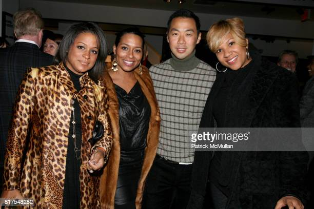 Alicen Damico Zuri McDaniels Shaokao Cheng and Ty Johnston attend 8th Annual BoCONCEPT/KOLDESIGN Holiday Party at Bo Concept Madison Ave on December...