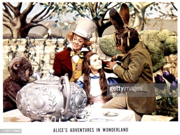 Alice's Adventures In Wonderland lobbycard Davy Kaye Robert Helpmann Fiona Fullerton Peter Sellers 1972