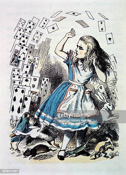 Alice's Evidence Alice and the Playing Cards Alice's Adventure in Wonderland by Lewis Carroll HandColored Illustration by John Tenniel circa 1865