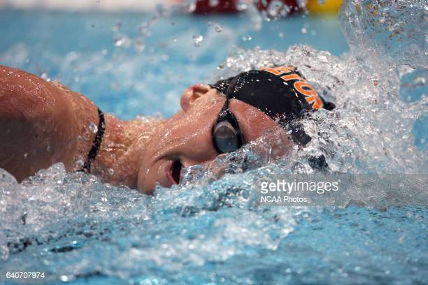 Alicia Aemisegger of Princeton competes in the 1650 yard freestyle during the Division I Women's Swimming and Diving Championship held at the Student...
