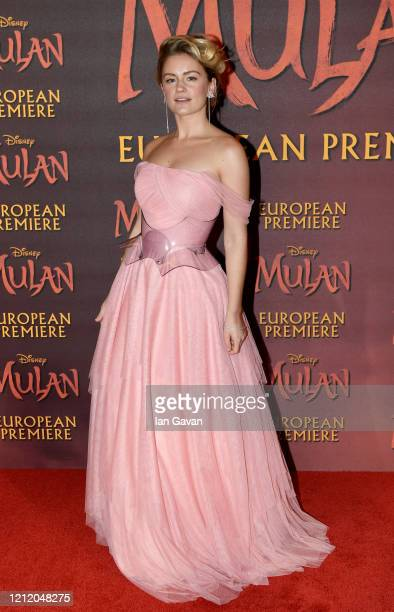 Alicia Agneson attends the European Premiere of Disney's MULAN at Odeon Luxe Leicester Square on March 12 2020 in London England