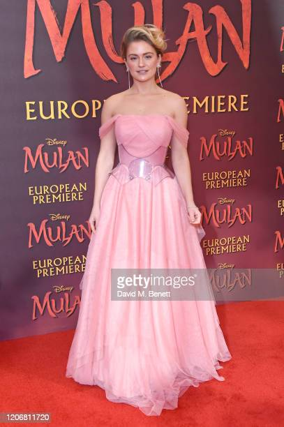 Alicia Agneson attends the European Premiere of Mulan at Odeon Luxe Leicester Square on March 12 2020 in London England
