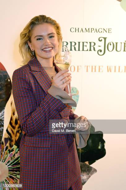 Alicia Agneson attends the launch of the inaugural 'PerrierJouet Artisans of the Wild' magazine at Alex Eagle Studio on February 13 2020 in London...