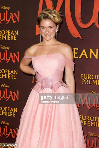 Alicia Agneson attends the Mulan European Premiere at Odeon Luxe Leicester Square on March 12 2020 in London England