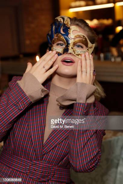 Alicia Agneson celebrates the launch of Carnevale at Bocconcino on February 13 2020 in London England