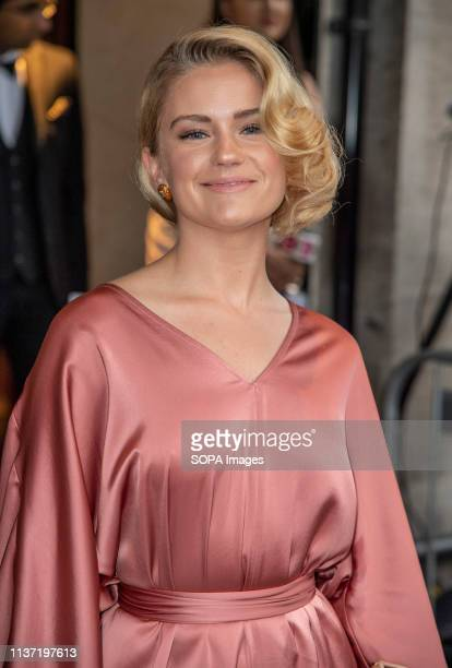 Alicia Agneson seen during The Asian Awards 2019 at The Grosvenor House Hotel in London