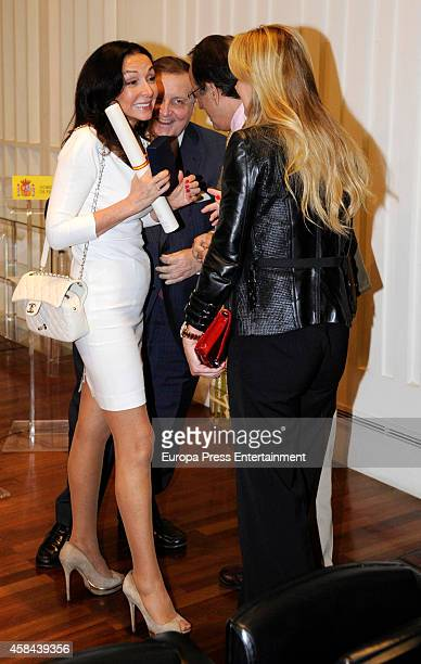 Alicia Alcocer Koplowitz attends the Golden Medal for Merit For Work to her mother the businesswoman Esther Koplowitz on November 4 2014 in Madrid...
