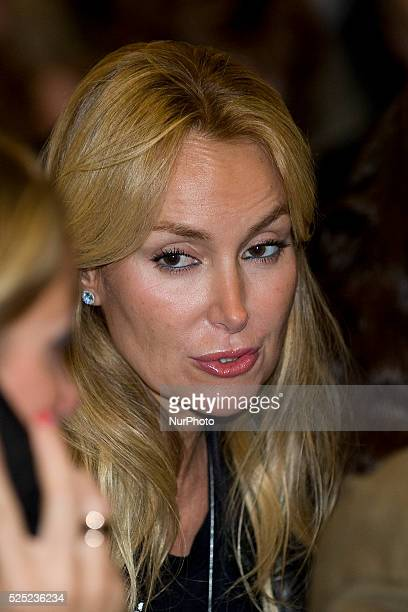 Alicia Alcocer Koplowitz attends the Golden Medal for Merit For Work to her mother the businesswoman Esther Koplowitz in Madrid Spain Photo Oscar...