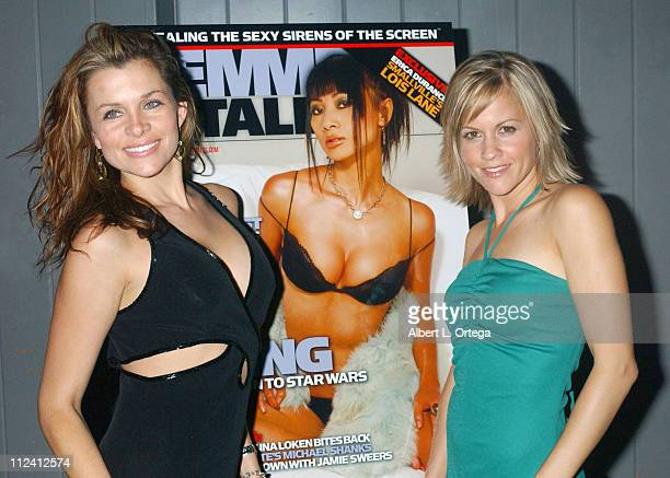 Alicia Arden and Heather Marsden during Femme Fatale Magazine Release Party at Club Good Hurt in Los Angeles California United States
