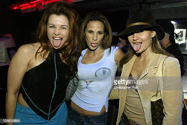 Alicia Arden BonnieJill Laflin and Charla Braun during 'Animal Avengers' Benefit Party Arrivals at The Key CLub in Hollywood CA United States