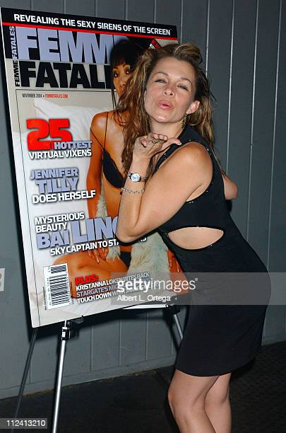 Alicia Arden during Femme Fatale Magazine Release Party at Club Good Hurt in Los Angeles California United States
