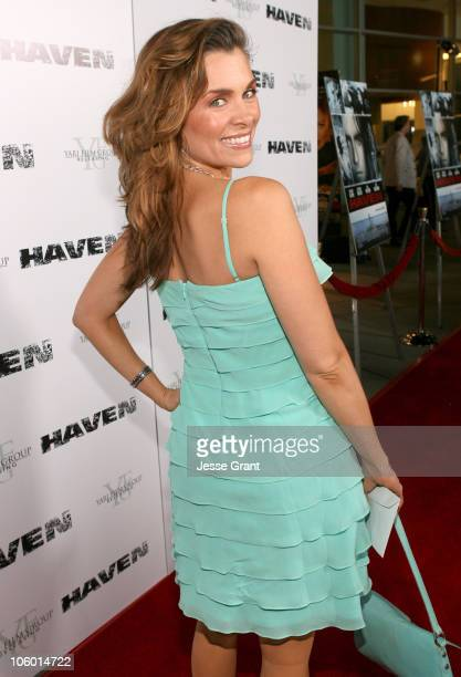 Alicia Arden during Haven Los Angeles Premiere Red Carpet at ArcLight in Hollywood California United States