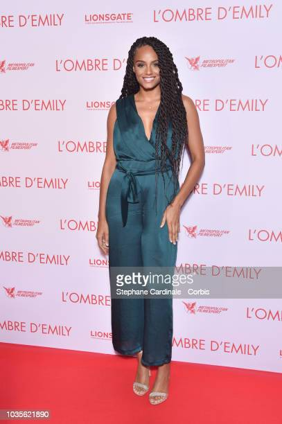 Alicia Aylies attends 'L'Ombre D'Emilie A Simple Favor' Paris Premiere at Cinema UGC Normandie on September 18 2018 in Paris France
