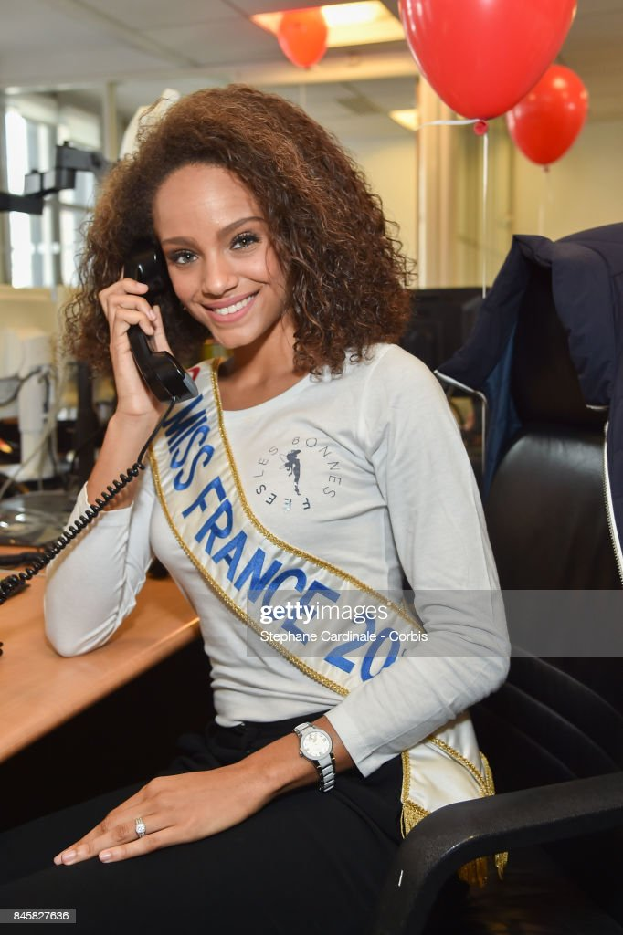 Alicia Aylies (Miss France 2017) attends the Aurel BGC Charity Benefit Day 2017 on September 11, 2017 in Paris, France.