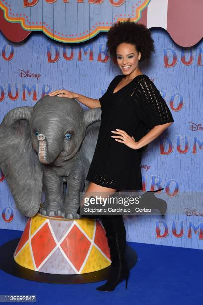 "Alicia Aylies attends the ""Dumbo"" Paris Gala Screening at Cinema Le Grand Rex on March 18 2019 in Paris France"