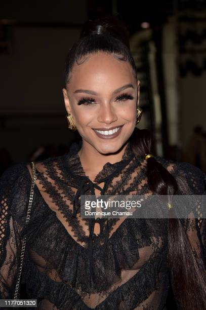 Alicia Aylies attends the Guy Laroche Womenswear Spring/Summer 2020 show as part of Paris Fashion Week on September 25 2019 in Paris France