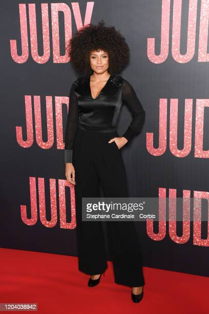 Alicia Aylies attends the Judy premiere At Cinema Gaumont Marignan on February 04 2020 in Paris France