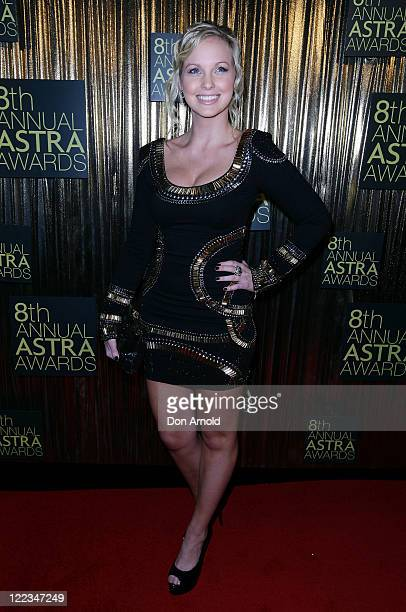 Alicia Banit arrives at the 8th annual ASTRA Awards at the State Theatre on June 24 2010 in Sydney Australia