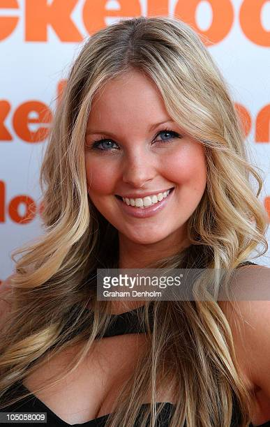 Alicia Banit arrives for the Australian Nickelodeon Kids' Choice Awards 2010 at the Sydney Entertainment Centre on October 8 2010 in Sydney Australia