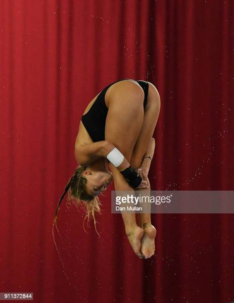 Alicia Blagg of City Leeds Diving Club competes in the Womens 3m Springboard Final on day three of the British Diving Championships at the Life...