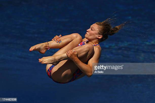 Alicia Blagg of Great Britain competes in the Women's 3m Springboard Diving Semifinal round on day seven of the 15th FINA World Championships at...