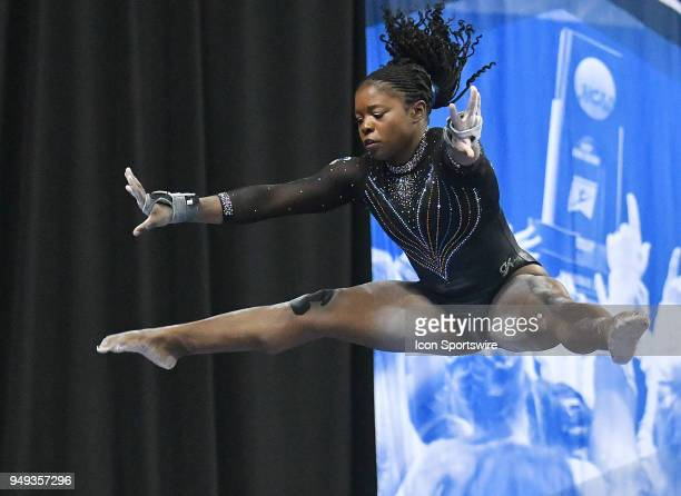 Alicia Boren of Florida performs on the balance beam during the NCAA Women's Gymnastics National Championship second round round on April 20 at...