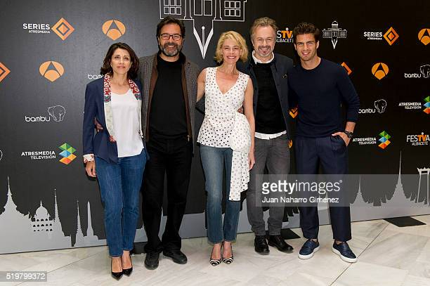 Alicia Borrachero Abel Folk Belen Rueda Tristan Ulloa and Maxi Iglesias attend 'La Embajada photocall during FeTval at Museo Municipal de Albacete on...