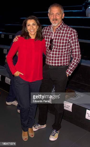 Alicia Borrachero and Jordi Revellon attend a fashion show during the Mercedes Benz Fashion Week Madrid Spring/Summer 2014 on September 13 2013 in...
