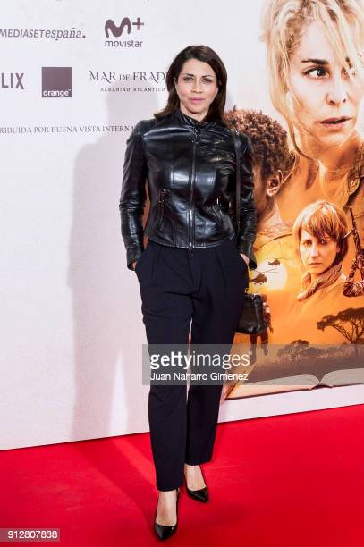 Alicia Borrachero attends 'El Cuaderno De Sara' premiere at the Capitol cinema on January 31 2018 in Madrid Spain
