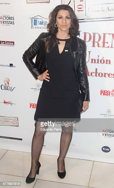 Alicia Borrachero attends 'Union de actores' awards 2014 photocall at Coliseum theatre on March 10 2014 in Madrid Spain
