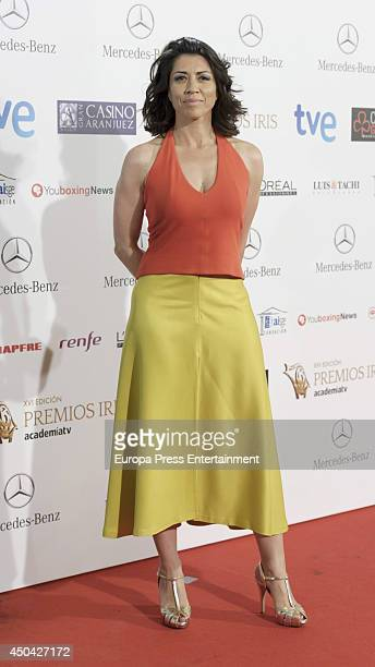 Alicia Borrachero attends XVI Iris Awards 2014 gala on June 10 2014 in Madrid Spain