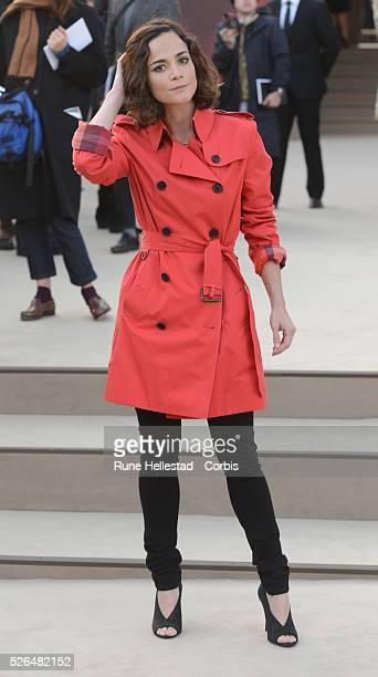 Alicia Braga attends Burberry Prorsum's Autumn/ Winter 2013 fashion show at London Fashion Week