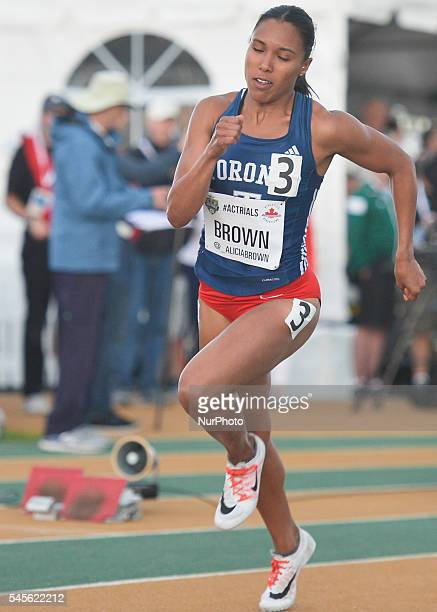 Alicia Brown during the third 400 metres semifinal on the second day of the 2016 Canadian Track amp Field Championship at Foote Field in Edmonton On...