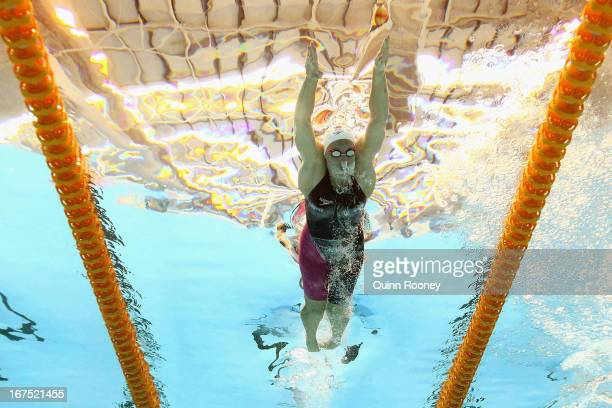 Alicia Coutts of Australia competes in the Women's 200 Metre Individual Medley during day one of the Australian Swimming Championships at the SA...