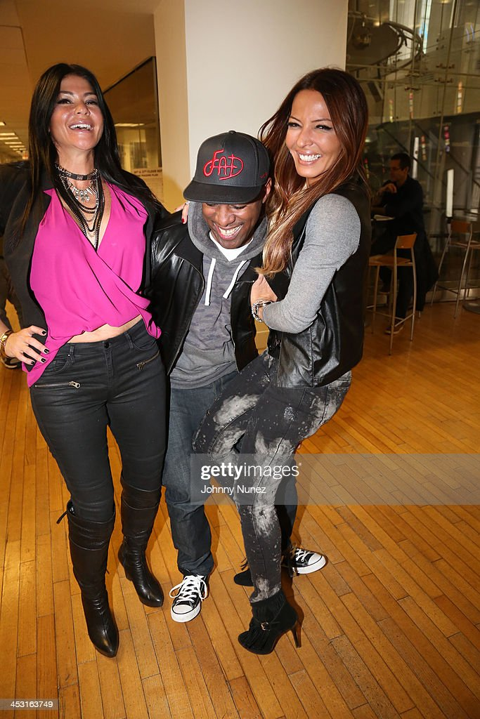 Alicia DiMichele, DJ Whoo Kid and Drita D'Avanzo invade 'The Whoolywood Shuffle' at SiriusXM Studios on December 2, 2013 in New York City.