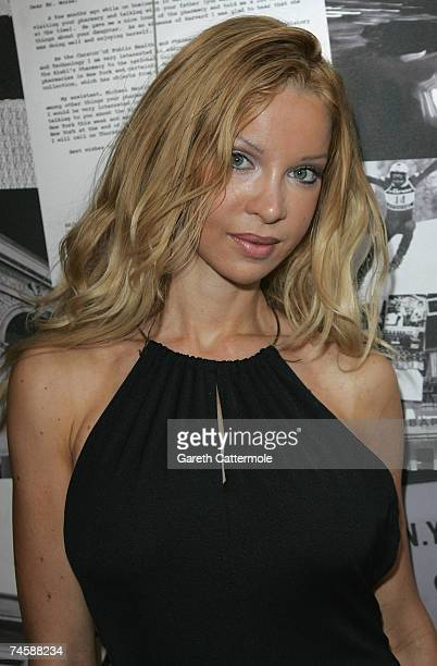 Alicia Douvall arrives at Kiehls New Store Launch Party on June 13 2007 in London England