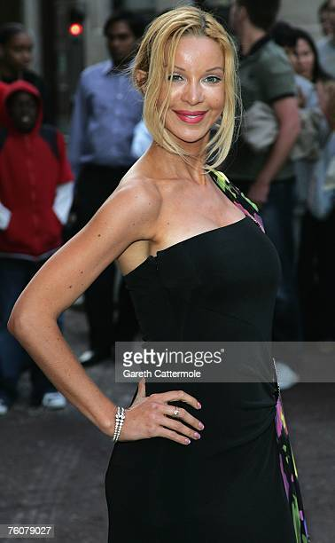 Alicia Douvall arrives at the Top Gun Gala Screening at the Odeon West End on August 13 2007 in London England