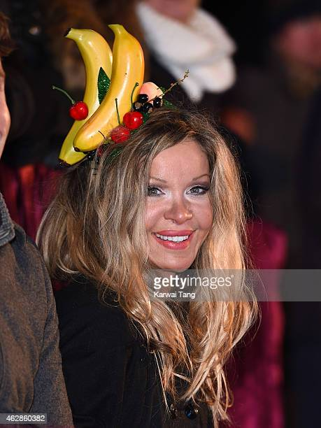 Alicia Douvall attends the final of Celebrity Big Brother at Elstree Studios on February 6 2015 in Borehamwood England