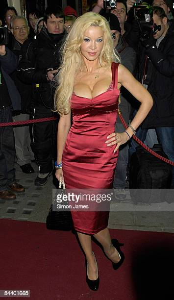 Alicia Douvall attends the opening night of the Michael Jackson musical 'Thriller Live' at Lyric Theatre on January 21 2009 in London England