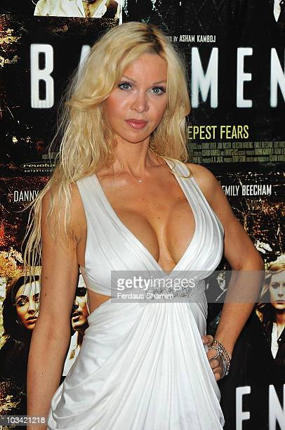 Alicia Douvall attends the premiere of 'Basement' at May Fair Hotel on August 17 2010 in London England