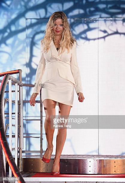 Alicia Douvall becomes the 2nd celebrity evicted from the Celebrity Big Brother House at Elstree Studios on January 23 2015 in Borehamwood England