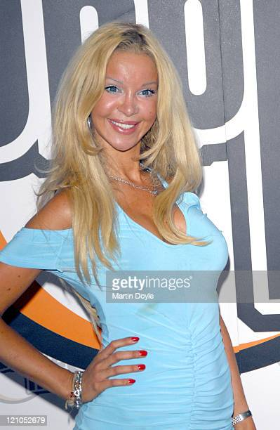 Alicia Douvall during Bubble Hits Music Channel Launch Party August 8 2006 at Soho Hotel in London Great Britain
