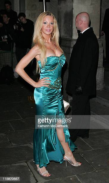 Alicia Douvall during La Dolce Vita Party Arrivals December 11 2006 at Old Billingsgate in London Great Britain
