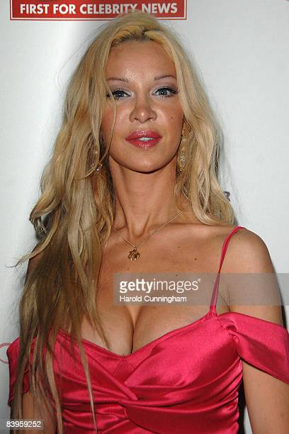 Alicia Duvall arrives at the OK magazine editorial Christmas party held at the Living Room on December 8 2008 in London England