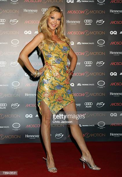 Alicia Duvall attends the Moscow Motion Party in Old Billingsgate on April 21 2007 in London England