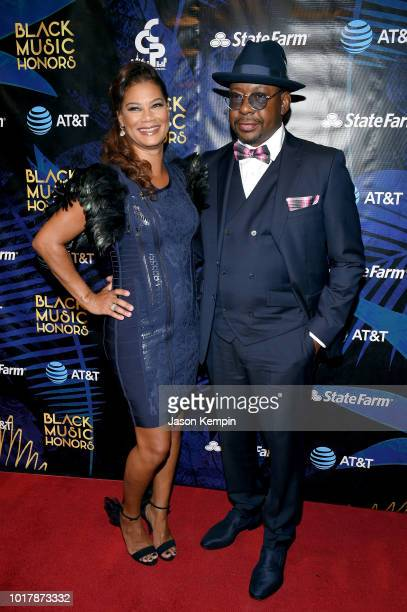Alicia Etheredge and Bobby Brown attend the 2018 Black Music Honors at Tennessee Performing Arts Center on August 16 2018 in Nashville Tennessee