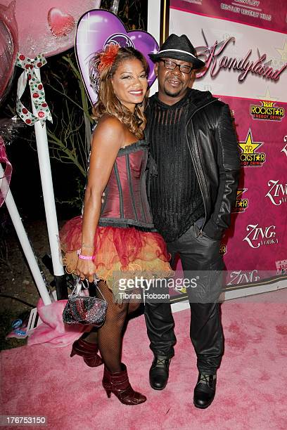 Alicia Etheredge and Bobby Brown attend the 8th annual Kandyland on August 17 2013 in Beverly Hills California
