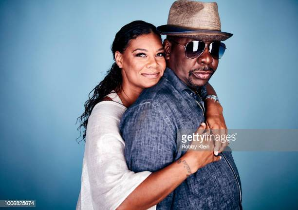 Alicia Etheredge and Bobby Brown of BET Network's 'The Bobby Brown Story' poses for a portrait during the 2018 Summer Television Critics Association...