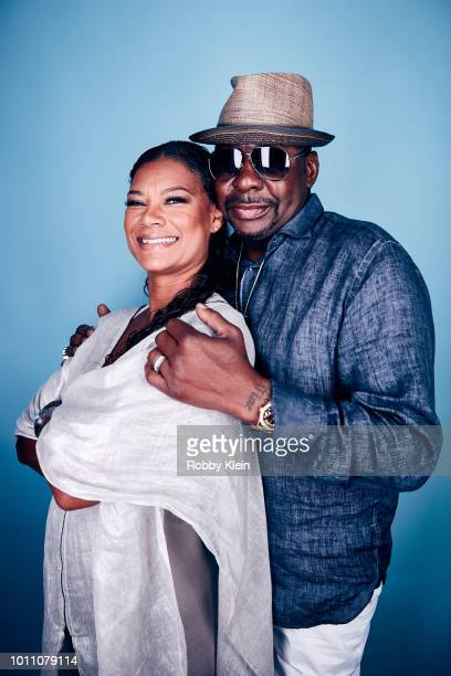 Alicia Etheredge and Bobby Brown of BET Network's 'The Bobby Brown Story' pose for a portrait during the 2018 Summer Television Critics Association...